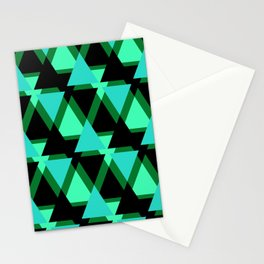 Abstract pattern . The green triangles . Stationery Cards