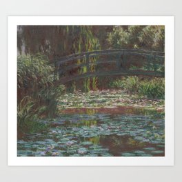 Water Lily Pond by Claude Monet (1900) - Fine Art Collection Art Print