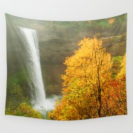 Waterfall into Fall Wall Tapestry