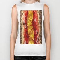 triangles Biker Tanks featuring Triangles by Sara Hazaveh