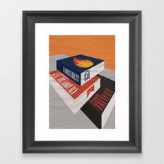 Fahrenheit 451 - Truffaut - Minimal Movie Poster Framed Art Print