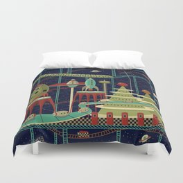 Fantastic Launch Station Duvet Cover