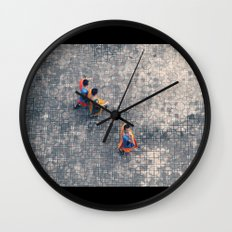 Monks in the city Wall Clock