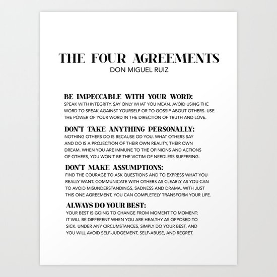 the four agreements by typutopia