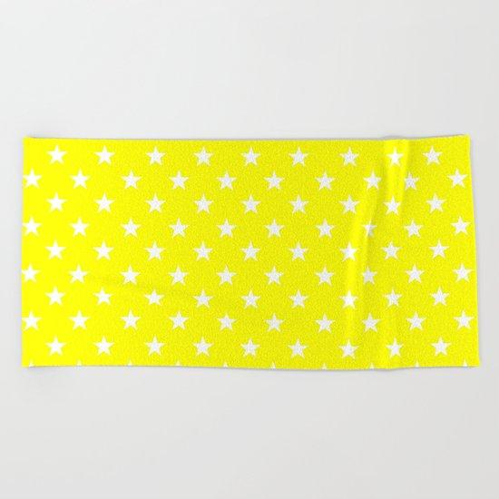 Stars (White/Yellow) Beach Towel