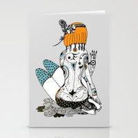 redhead Stationery Cards featuring Redhead by Zinaida Kazantseva