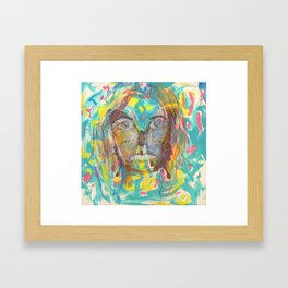 butterfly face Framed Art Print