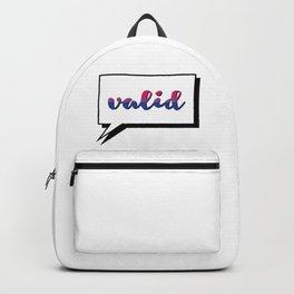 Bi People are Valid Backpack