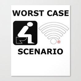 WLAN toilet offline humor funny gift Canvas Print