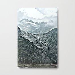 Rhone Glacier Metal Print