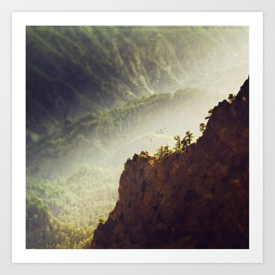 Long Way Down - Caldera de Taburiente - La Palma Art Print