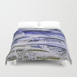 Melting Glacier Duvet Cover