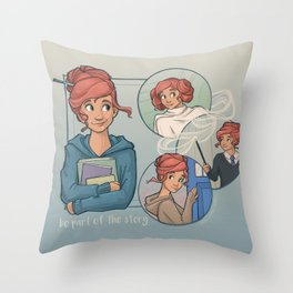 Be Part of the Story Throw Pillow