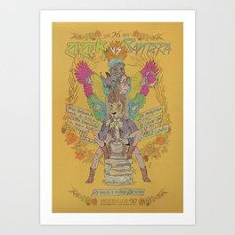 Zizek VS Santera Art Print