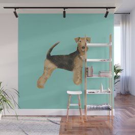 Airedale Terrier dog art cute gifts for dog lover pet friendly airedale terriers Wall Mural