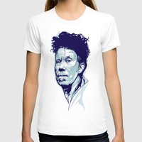 tom waits T-shirts featuring Tom Waits Portrait by Brian Yap