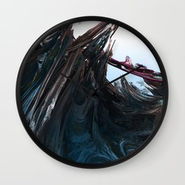 Shattered Wavez Wall Clock