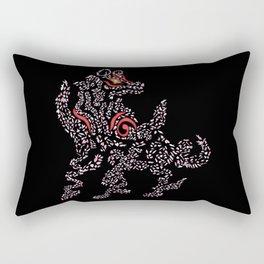 Okami Amaterasu - Cherry Blossom Form [BLACK] Rectangular Pillow