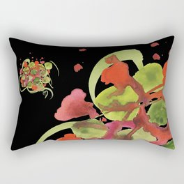 Atom Flowers #38 Rectangular Pillow