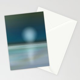 beach night  Stationery Cards