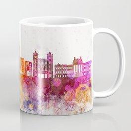 Montevideo skyline in watercolor background Coffee Mug