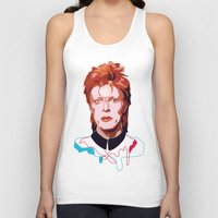 bowie Tank Tops featuring Bowie by Anna McKay