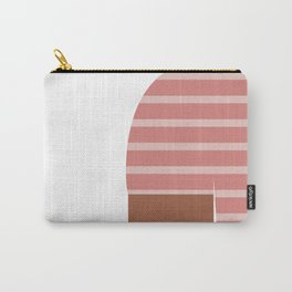 Pink & Black T-Shirt Carry-All Pouch
