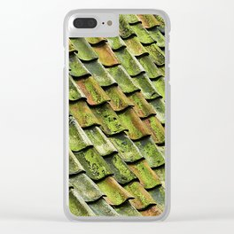 Green Angles Clear iPhone Case