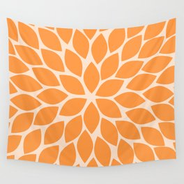 Sherbet Chrysanthemum Wall Tapestry