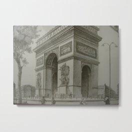 Arc de Triomphe de l'Etoile by Maurice Legendre Metal Print