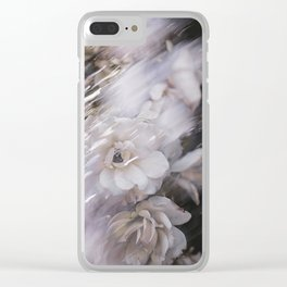 a windy day in the desert Clear iPhone Case