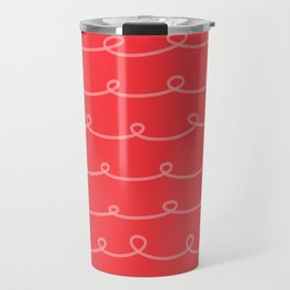 Tomato Red Curlicues Travel Mug