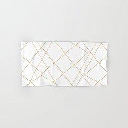 Modern Gold Geometric Strokes Abstract Design Hand & Bath Towel