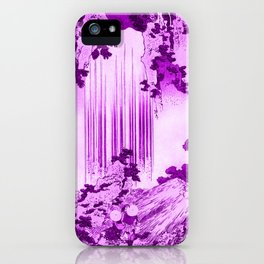 yoro waterfall in mino province remix in pink iPhone Case