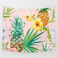 hawaii Wall Tapestries featuring Hawaii by 83 Oranges™