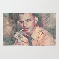 frank sinatra Area & Throw Rugs featuring Frank Sinatra by Nechifor Ionut