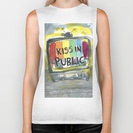 kiss in public Biker Tank