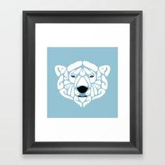 An Béar Bán (The White Bear) Framed Art Print