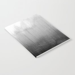 Modern Black and White Watercolor Gradient Notebook