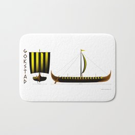 Gokstad Viking Ship Bath Mat