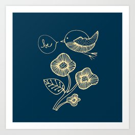 be in blue print Art Print