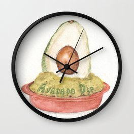 Avacado Dip Wall Clock
