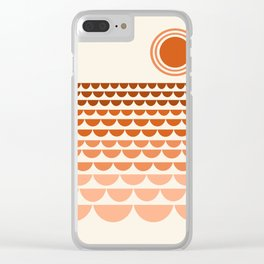 Boogy - retro 70s vibes sunset ocean water desert socal california travel retro minimal Clear iPhone Case