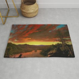 Twilight in the Wilderness by Frederic Edwin Church Rug
