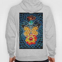 Butterfly Space Flower Galaxy Tapestry Painting Visionary Psychedelic Art (Sacred Feminine) Hoody