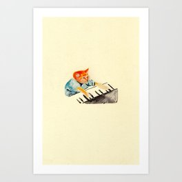 watercolour keyboard Art Print