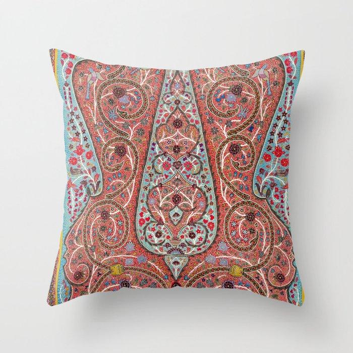 Rasht  Antique Persian Wall Hanging Print Throw Pillow