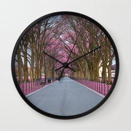 Pink Mall Promenade Wall Clock