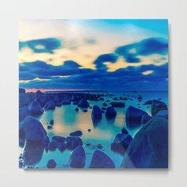 Beach decor, wall decor, ocean wave print, nautical decor Metal Print