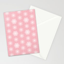 Frosty Snowflakes Sweet Blush Stationery Cards